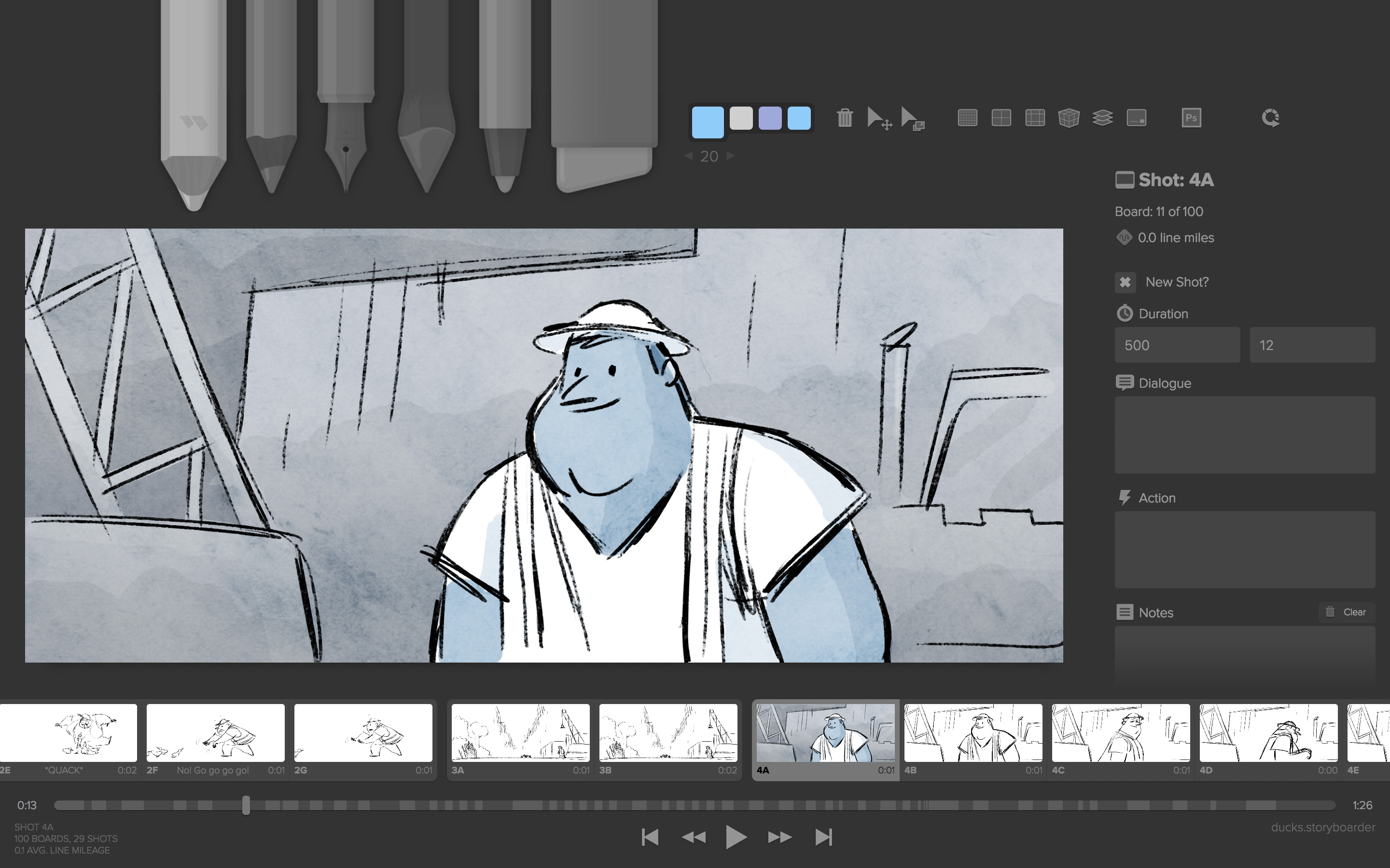 Storyboarder makes it easy to visualize a story as fast you can draw stick figures quickly draw to test if a story idea works create and show animatics to
